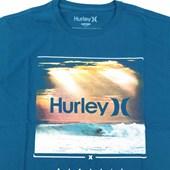 Camiseta Masculina Hurley Azul