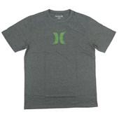Camiseta Masculina Hurley Silk Icon Cinza Mescla