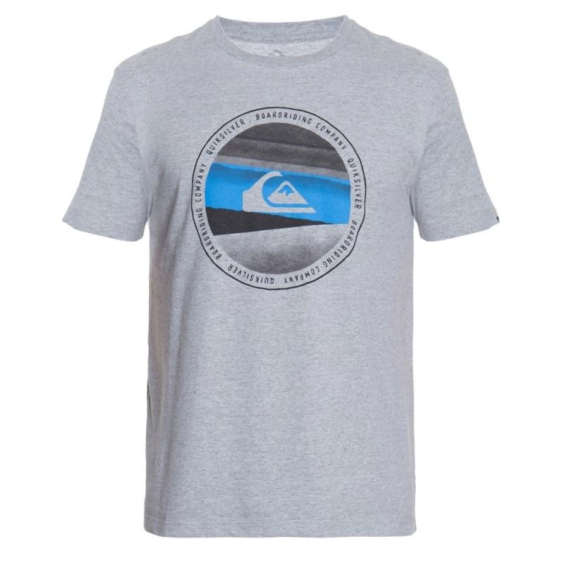 Camiseta Masculina Quiksilver Last Tree Cinza - Back Wash 619ba7bc69