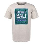 Camiseta Masculina Rip Curl Bali Cinza