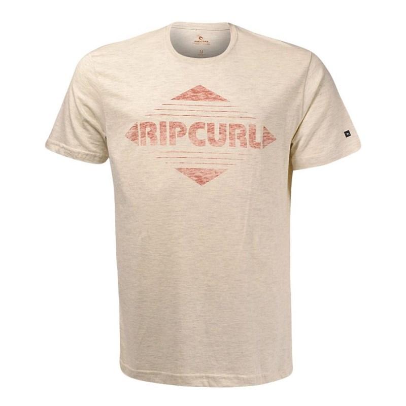 4b730cdff4091 Camiseta Masculina Rip Curl Diamonds Bege - Back Wash