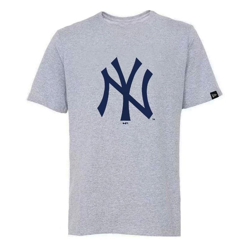 Camiseta New Era MLB New York Yankees Logo Cinza