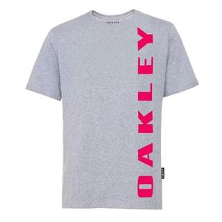 Camiseta Oakley Big Bark Stone Grey Cinza