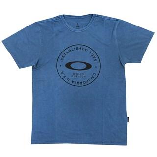 Camiseta Oakley Fraction Washed Tee Azul