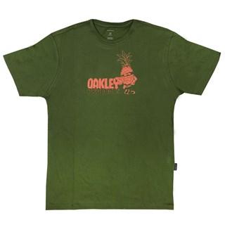 Camiseta Oakley Pinuts Tropical Tee Verde Escura