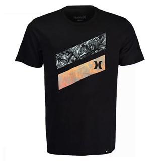 Camiseta Plus Size Hurley Icon Slash Cinza