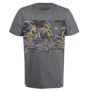 Camiseta Quiksilver Especial Com Bolso Silent Fury Cinza