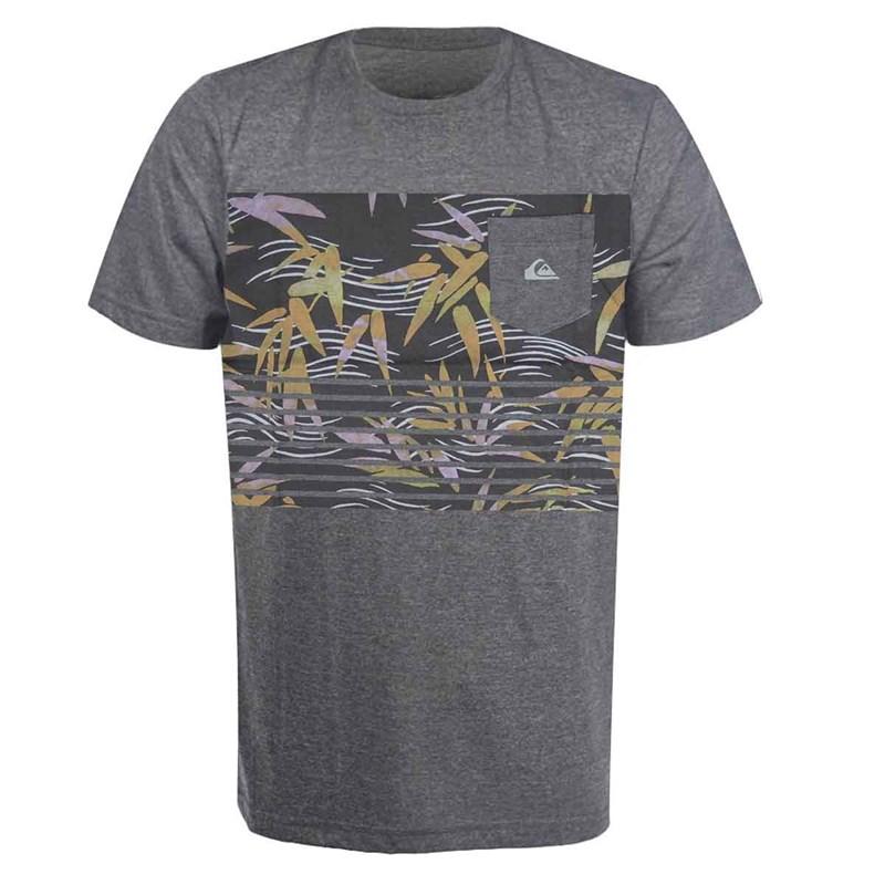 Camiseta Quiksilver Especial Com Bolso Cinza - Back Wash 41a480cc4b