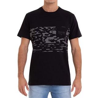 Camiseta Quiksilver Microdose Camo Preta