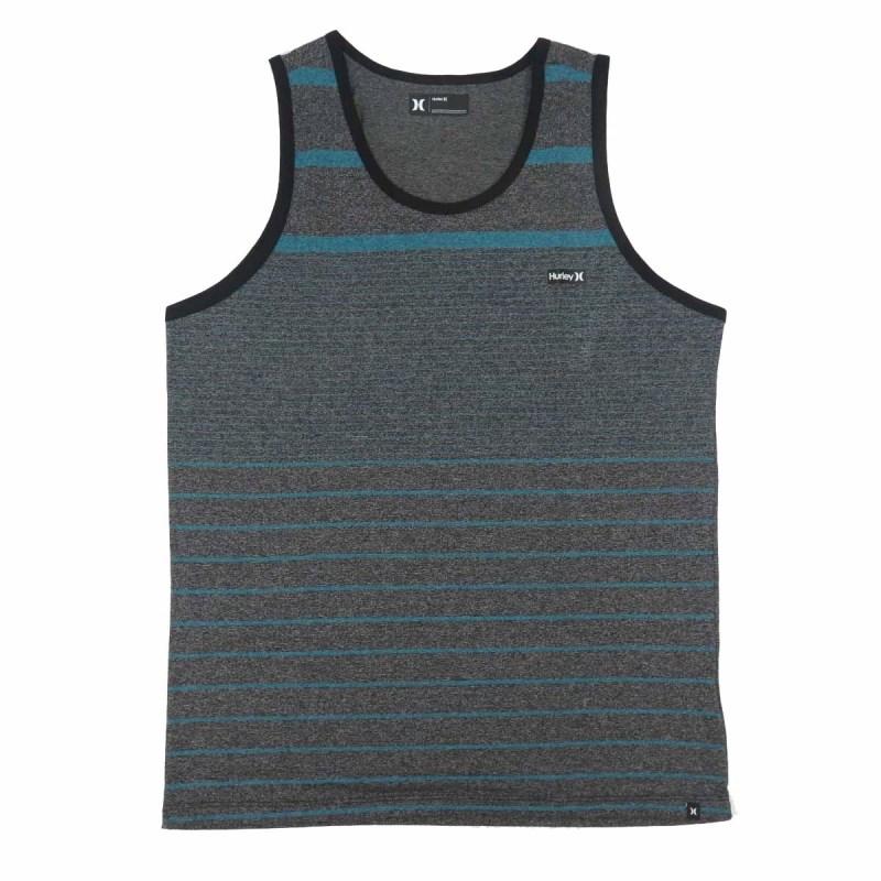 8b0aa019db Camiseta Regata Hurley Preto e Azul - Back Wash