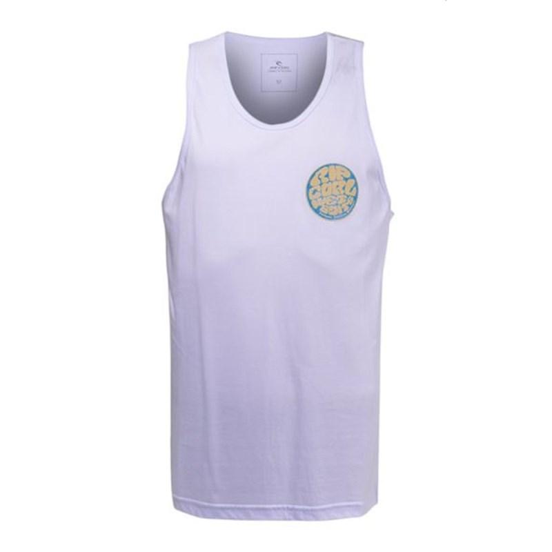 10f3cafe297c7 Camiseta Regata Masculina Rip Curl Branca CRG0198 - Back Wash