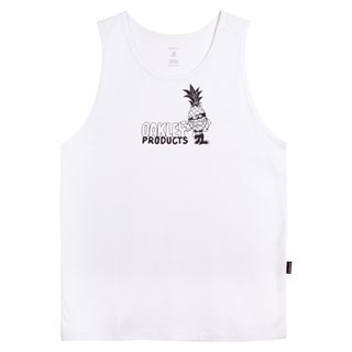 Camiseta Regata Oakley Pinuts Tropical Tank Branca