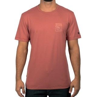 Camiseta Rip Curl Front Back Tee Marrom