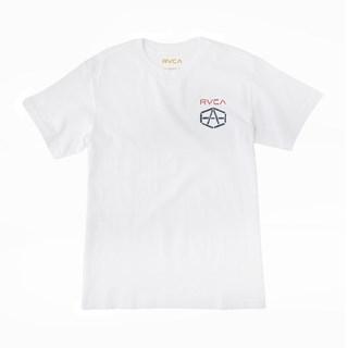 Camiseta RVCA Reynolds Stencil Branca