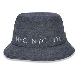Chapéu Bucket New Era NYC Cinza Mescla