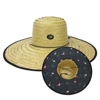 Chapéu de Palha Freesurf Acess Vest Flamingo