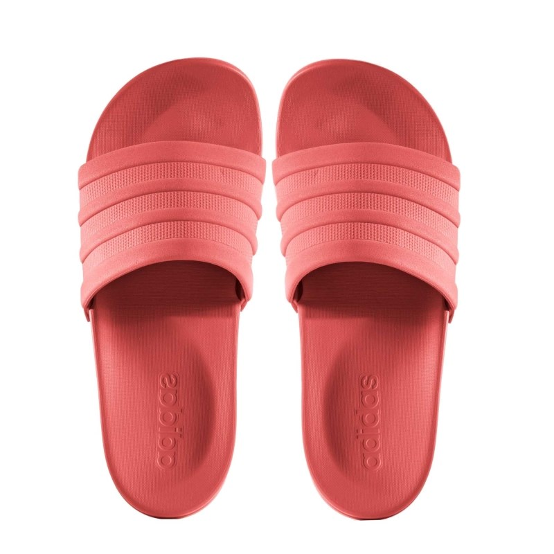 00346608063 Chinelo Adidas Feminino Adilette Cloudfoam Coral - Back Wash