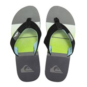 Chinelo Masculino Quiksilver Foundation Everyday Cinza Verde