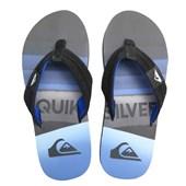 Chinelo Masculino Quiksilver Slash Logo Azul