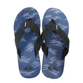 Chinelo Quiksilver Carver Print Azul