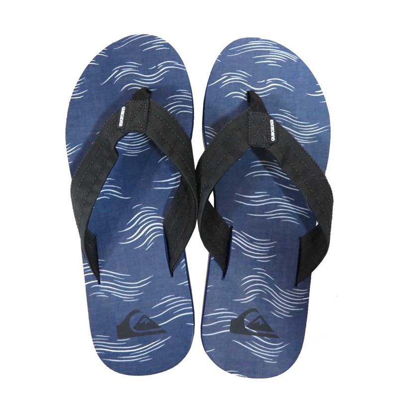 Chinelo Quiksilver Carver Print Azul