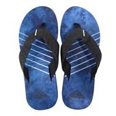 Chinelo Quiksilver Carver Print Azul e Preto