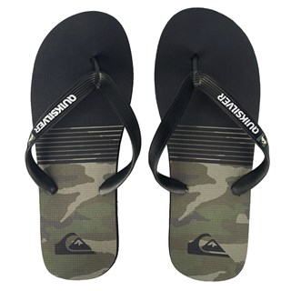Chinelo Quiksilver Everyday Pack Preto Camo