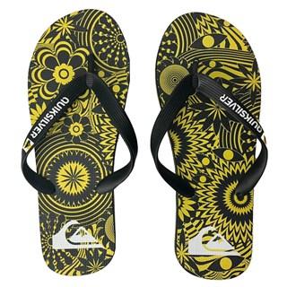 Chinelo Quiksilver Molokai Graphic Preto e Amarelo