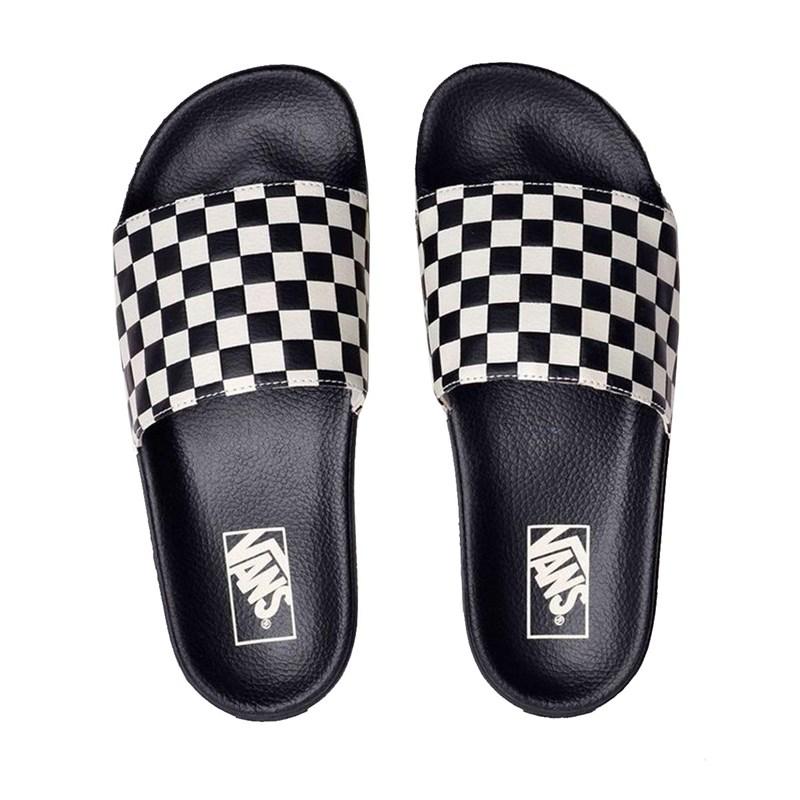Chinelo Vans Slide-On Checkerboard Black White