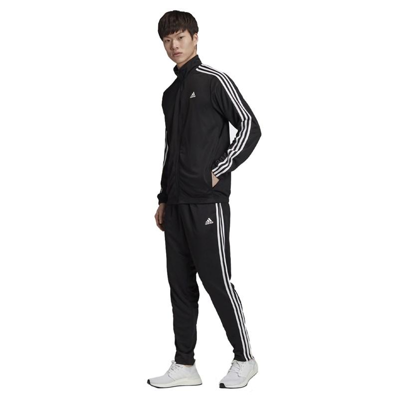 Conjunto Agasalho Adidas Athletics Preto e Branco