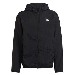Jaqueta Corta Vento Adidas Essentials Trefoil Preta