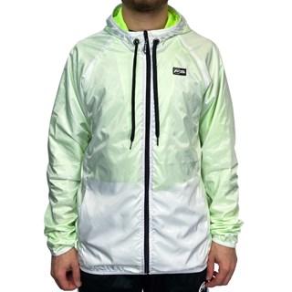 Jaqueta Corta Vento Freesurf Neon Branca e Verde