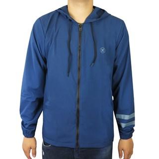 Jaqueta Corta Vento Hurley Logo Azul