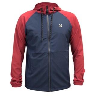 Jaqueta Corta Vento Hurley Skillz Azul e Vermelha