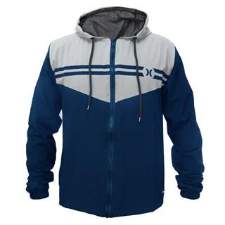Jaqueta Corta Vento Hurley Stripe Azul