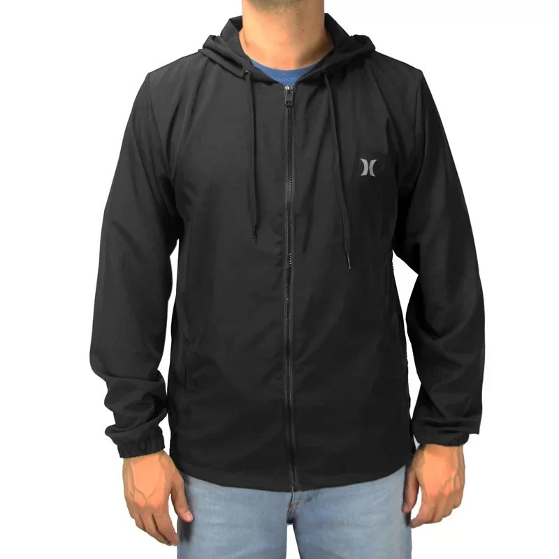 Jaqueta Corta Vento Hurley Windbreaker Local Preta