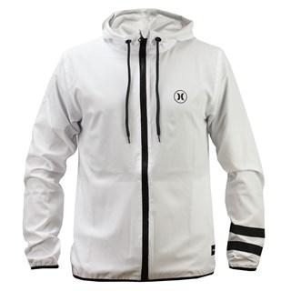 Jaqueta Corta Vento Hurley Windbreaker Logo Branca