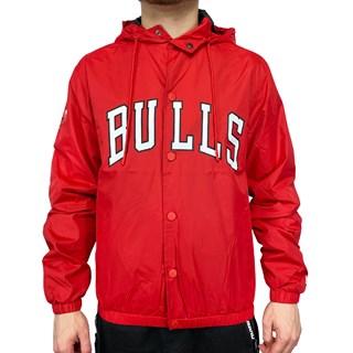 Jaqueta Corta Vento New Era College Chicago Bulls Vermelha