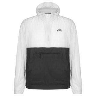 Jaqueta Corta Vento Nike SB Anorak Branca e Preta