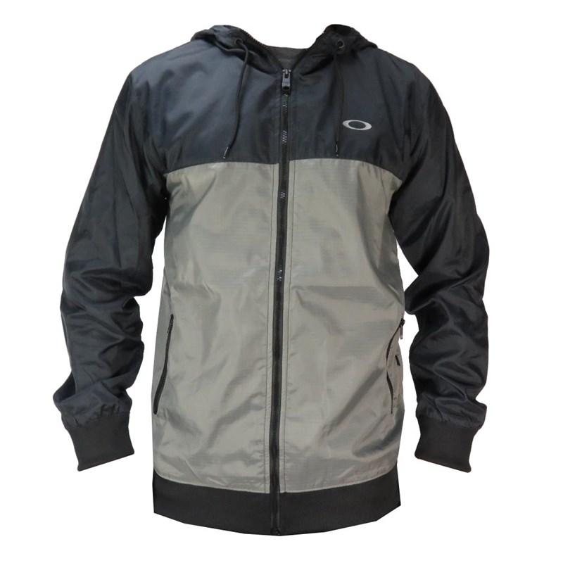 Compre Jaqueta Corta Vento Oakley Blocked Jacket Cinza na Back Wash! 5daef833ec2