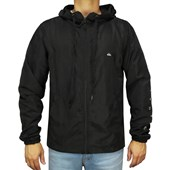 Jaqueta Corta Vento Quiksilver Windbreaker Whole Day Preta