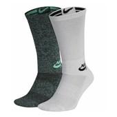 Kit Meia Nike SB Verde e Branca