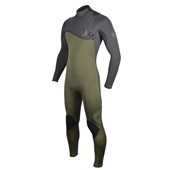 Long John Rip Curl FlashBomb 3.2mm Chest Zip E-5 Preto/Verde