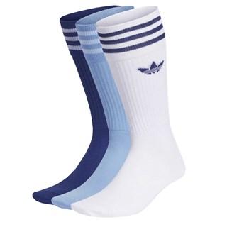 Meia Adidas Crew Cano Alto Azul