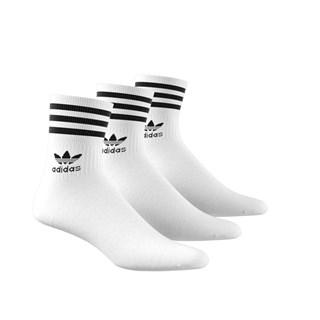 Meia Adidas Mid Cut Crw Branca
