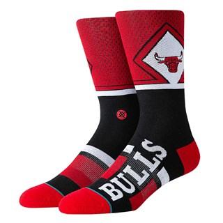Meia Stance Bulls Shortcut Vermelha