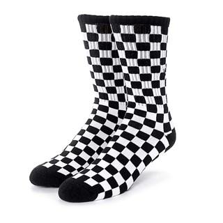 Meia Vans Checkerboard Crew Preta 34-38