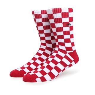 Meia Vans Checkerboard Crew Vermelha 34-38