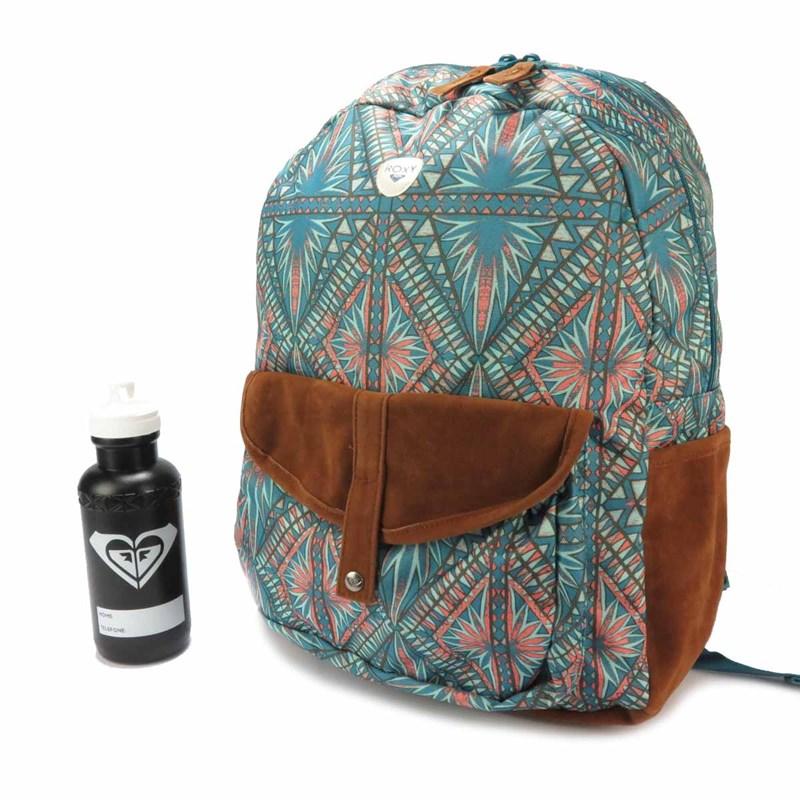 Compre Mochila Feminina Roxy Carribean Azul Estampada na Back Wash! 0b99d39ada4