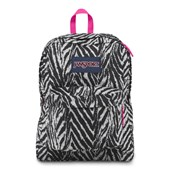 Mochila JanSport Superbreak Grey Tar Wild At Heart 25L